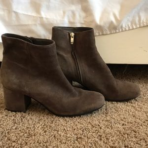 Marc Fisher Shoes - Taupe/Grey suede booties